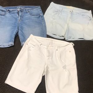 3 pairs of stretch shorts.